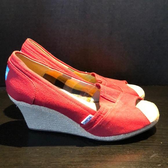 New✨Toms heel/Wedges sz 8.5